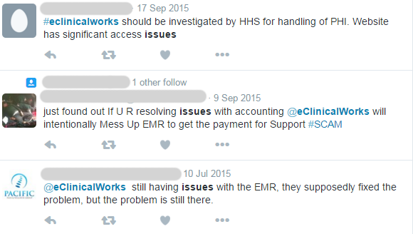 eClinicalWorks Issues